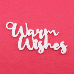 WarmWishesGiftTagWithJumpringPhoto.jpg Download STL file Warm Wishes - Christmas Gift Tag • Object to 3D print, CBDesigns