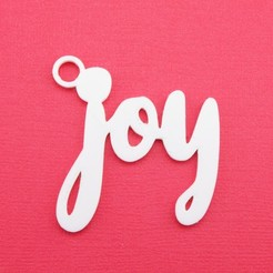 JoyGiftTagWithJumpringPhoto.jpg Download STL file Joy - Christmas Gift Tag • Object to 3D print, CBDesigns