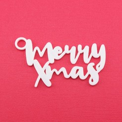 MerryXmasGiftTagWithJumpringPhoto.jpg Download STL file Merry Xmas - Christmas Gift Tag • 3D printer model, CBDesigns