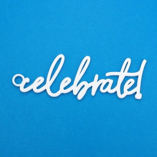 Download 3D printer designs Celebrate Gift Tag, CBDesigns