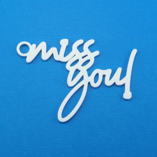 Download STL file Miss You Gift Tag, CBDesigns