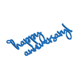 Download 3D printing models Happy Anniversary Gift Tag, CBDesigns