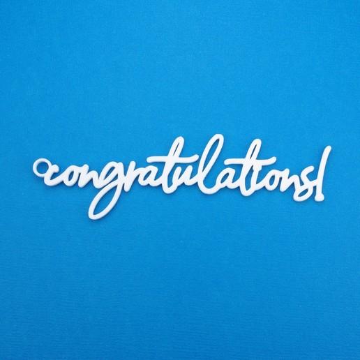 Download STL Congratulations Gift Tag, CBDesigns