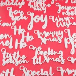 TheUltimateGiftTagCollectionChristmasEditionGroupPhoto1.jpg Télécharger fichier STL La collection ultime d'étiquettes-cadeaux - Édition de Noël • Modèle pour impression 3D, CBDesigns