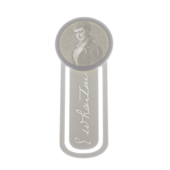 EdithWhartonPortraitLithophaneMiniBookmark3DPrintLightBoxPhoto.png Download STL file Edith Wharton Lithophane Mini Bookmark • 3D printer object, CBDesigns