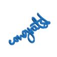 Download 3D printer designs Congrats Gift Tag, CBDesigns