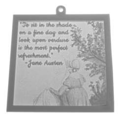Download 3D printing files Jane Austen Watercolour Verdure Quote Lithophane Window Hanging, CBDesigns