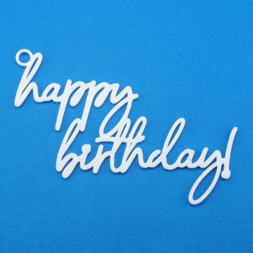 Download 3D printer templates Happy Birthday Gift Tag, CBDesigns