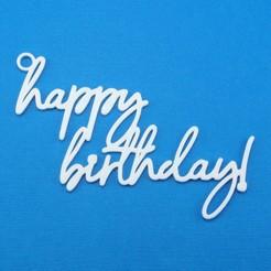 Descargar STL Etiqueta de regalo de Feliz Cumpleaños, CBDesigns