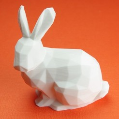 Download free 3D printing designs Lowpoly Stanford Bunny With Upright Ears, CBDesigns