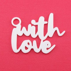 WithLoveGiftTagWithJumpringPhoto.JPG Download STL file With Love - Christmas Gift Tag • 3D printable model, CBDesigns