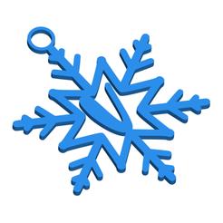 VSnowflakeInitialGiftTag3DImage.png Download STL file Letter V - Snowflake Initial Gift Tag Ornament • 3D print design, CBDesigns