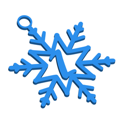 ZSnowflakeInitialGiftTag3DImage.png Download STL file Letter Z - Snowflake Initial Gift Tag Ornament • Design to 3D print, CBDesigns