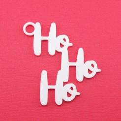 HoHoHoGiftTagWithJumpringPhoto.jpg Télécharger fichier STL Ho Ho Ho - Étiquette cadeau de Noël • Design imprimable en 3D, CBDesigns