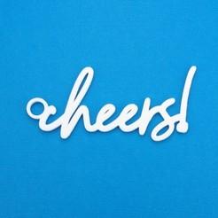 Descargar archivos STL Cheers Gift Tag, CBDesigns