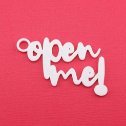 OpenMeGiftTagWithJumpringPhoto.jpg Download STL file Open Me - Christmas Gift Tag • 3D print design, CBDesigns