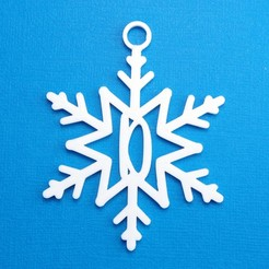 DSnowflakeInitialGiftTag3DPhoto.jpg Download STL file Letter D - Snowflake Initial Gift Tag • Object to 3D print, CBDesigns