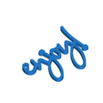 Download 3D printing designs Enjoy Gift Tag, CBDesigns