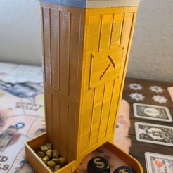 Download free 3D printing templates Western Legends Mining Dice Tower, endofturn