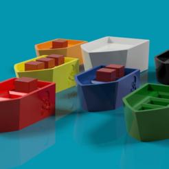 Royal Ship v1.png Download free STL file Tiny Epic Pirates Ships and Cargo • 3D printer template, endofturn