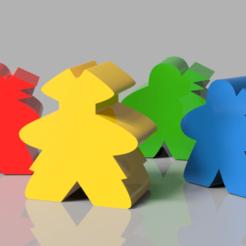 Display v1.png Download free STL file Tiny Epic Pirate Meeples • Design to 3D print, endofturn