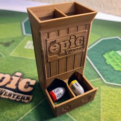 Download free 3D printing designs Tiny Epic Dice Tower for Tiny Epic Western, endofturn