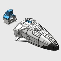 blast off nose v4 print.png Télécharger fichier STL Kit de la navette de décollage • Design pour imprimante 3D, tfwsteamshield