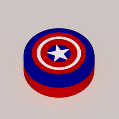 1.png Download STL file Grinder Captain America • 3D printable template, KEH