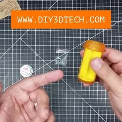Pill_01.jpg Download free SCAD file Pill Bottle Upcycling Separator! • 3D print object, DIY3DTech