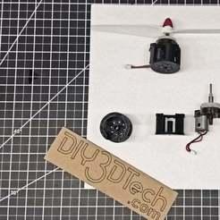 SymaX8_Motor_Mount_v1.jpg Download free STL file Syma X8 Drone Motor Adapater • 3D printing object, DIY3DTech