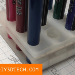 Pilot_Pen_02.png Download free STL file Eames Inspired 3D Printed Pen Holder! • 3D printer object, DIY3DTech