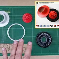 Download free 3D printer designs Re-Mixed Turbocharger with Electric Motor, DIY3DTech