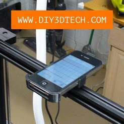 Vib_02.jpg Download free SCAD file Smartphone Vibration Sensor Mount for 20 x 20 Marker Rail! • 3D print template, DIY3DTech