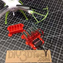 File_000.jpeg Download free STL file Battery and Charger Holder for 1200mah Syma X5 • 3D printer template, DIY3DTech