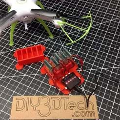 File_000.jpeg Télécharger fichier STL gratuit Support de batterie et de chargeur pour 1200mah Syma X5 • Objet à imprimer en 3D, DIY3DTech