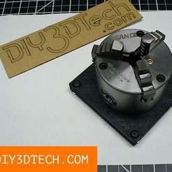 TV_Chuck_Fixture_01.jpg Download free STL file 3D Printable CNC Chuck Fixture! • 3D printable object, DIY3DTech