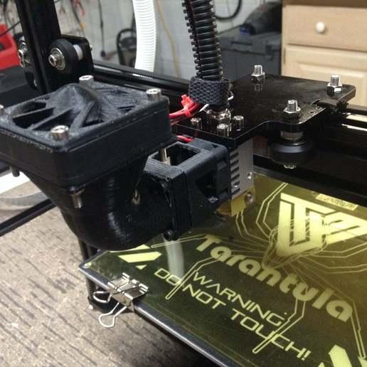 5.jpg Download free STL file Wanhao & Tevo Tarantula 30mm Fan to 50mm Fan Adapter • 3D printable design, DIY3DTech