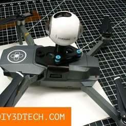 Mount_02.jpg Télécharger fichier STL gratuit Mavic Pro : un sac à dos pour appareil photo et un sac à dos vierge ! • Plan à imprimer en 3D, DIY3DTech