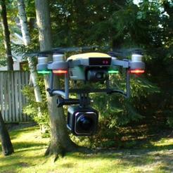 DJI_Spark_Drone_Gropro_Mount_02.jpg Download free STL file DJI Spark GoPro Mount! • 3D print object, DIY3DTech