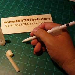 Download free 3D printing models Customizable Apple iPad Pro Pencil Clip, DIY3DTech