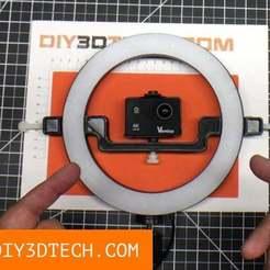 RingCamera_01.jpg Télécharger fichier STL gratuit Monture de caméra Ring Light ! • Objet pour impression 3D, DIY3DTech