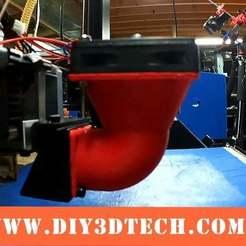 Fan_04a.jpeg Télécharger fichier STL gratuit Wanhao & Tevo Tarantula 30mm Fan to 50mm Fan Adapter • Plan pour impression 3D, DIY3DTech