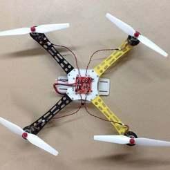 Syma-450.JPG Download free STL file Syma X8 Re-imagined as a Fire Wheel 450! • 3D printing model, DIY3DTech