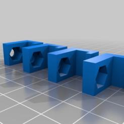 Descargar archivos STL gratis QU-BD TwoUp v2 Bed Nut Sujetadores de tuercas de cama, DIY3DTech