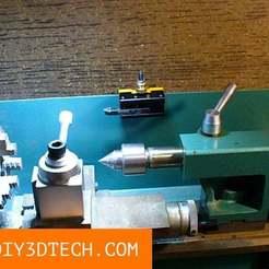 QCTH_04.jpg Download free STL file Mini-Lathe Quick Change Tool Post Holder! • 3D printing model, DIY3DTech