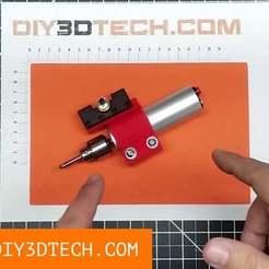 Grinder01.jpg Download free STL file Mini-Lathe Tool Post Grinder! • 3D printer object, DIY3DTech