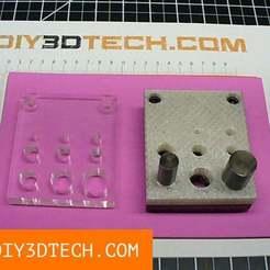 DIY3DTech_Punch_Die_cover_01.jpg Télécharger fichier STL gratuit Gino Development TruePower Punch & Die Set Replacement Cover ! • Objet à imprimer en 3D, DIY3DTech