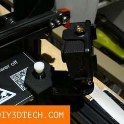 TV_02.jpg Télécharger fichier STL gratuit Support universel pour appareil photo ! • Plan pour imprimante 3D, DIY3DTech