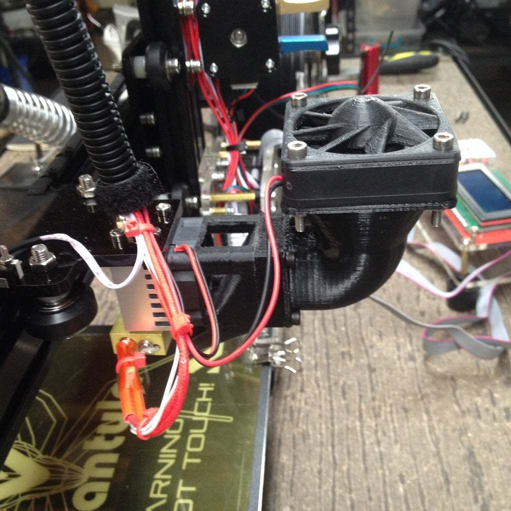 9.jpg Download free STL file Wanhao & Tevo Tarantula 30mm Fan to 50mm Fan Adapter • 3D printable design, DIY3DTech