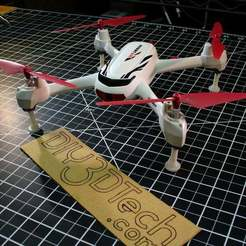 P1020589.JPG Download free STL file Hubsan X4 H502e and H502s Drone Legs! • 3D printing model, DIY3DTech